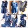 Dress Jeans ผ้ายีนส์แท้ฟอกนิ่ม ปักลายที่อก แขนทั้งสองข้าง XL อก42 วงแขน20 เอวรูดไม่เกิน44 โพก58 ยาว37นิ้ว