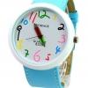 นาฬิกาข้อมือ ผู้หญิง ผู้ชาย ใส่ได้ สายหนัง ลายกราฟฟิค Paint รูปดินสอ ลายการ์ตูน ตัวเลขน่ารัก สีฟ้า ของขวัญสุดเก๋ no 824387_1