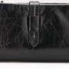 กระเป๋าสตางค์หนังแท้ กระเป๋าสตางค์ผู้หญิง ใบยาว หนังมันเงา จุบัตรได้เยอะ เสริมความจุด้วย กระเป๋าใส่บัตร ถอดเข้าออกได้ สีดำ no 606452_8