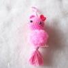 พวงกุญแจปอมปอมคิตตี้ pompoms kitty crochet keychain
