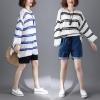 JY25229#เสื้อOversizeสไตล์เกาหลี เสื้อโอเวอร์ไซส์แต่งลายแนวๆ อก*100ซม.ขึ้นไปประมาณ40-42นิ้วขึ้น