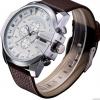 นาฬิกาข้อมือ ผู้ชาย สายหนังแท้ แนว Sport แบบเท่ ใส่ได้ทุกงาน สายหนังสีน้ำตาล หน้าปัด สีขาว สุดคลาสสิค สำหรับผู้ชาย มาดเนี้ยบ มีสไตล์ 718005_2