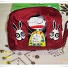 กระเป๋าใส่ของ กระเป๋าใส่เครื่องสำอางค์ Marc By Marc Jacob สีแดงเลือดนกใบใหญ่