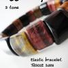 Tiger' eye Elastic Bracelet(3 tone) ข้อมือเอ็นยืดพลอยตาเสือ 3 สี TG301E