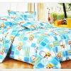 ชุดผ้าปูที่นอนครบชุด ขนาด 3.5 ฟุต 3 ชิ้น ลายโดเรม่อน เต็มผืน สีฟ้า ตาราง ผ้าปูที่นอนรัดมุม ลายการ์ตูน ราคาถูก no d003