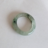 RJ55(10) แหวนหยกพม่าแท้ไซท์เล็กพิเศษ ไซท์ 55 USA7 นื้อสวยเกรดส่งออกสีธรรมชาติ 100 %