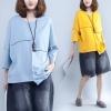 JY25736#เสื้อOversizeสไตล์เกาหลี เสื้อโอเวอร์ไซส์แต่งลายแนวๆ อก*100ซม.ขึ้นไปประมาณ40-42นิ้วขึ้น