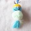 พวงกุญแจปอมปอมมินเนี่ยน pompoms crochet keychain