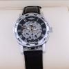 นาฬิกา Automatic นาฬิกาข้อมือ แบบโชว์กลไก ไม่ต้องใส่ถ่าน หน้าปัด ฉลุลาย สายหนังสีดำ no 39441