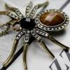 สร้อยคอพร้อมจี้ รูปตัวแมงมุม ประดับคริสตัล และ เพชรสังเคราะห์