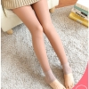 Legging เลกกิ้งกันหนาว สีเนื้อเข้ม สำหรับสาวผิวสองสี ด้านในเป็นขนหนานุ่ม ด้านนอกเป็นผิวแบบถุงน่อง ยืดได้เยอะ กระชับทรง