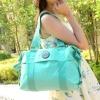 กระเป๋าสะพายข้างผู้หญิง แบบ สปอร์ต กระเป๋าผ้าไนลอน กันน้ำ ใบใหญ่ กระเป๋า ใส่เสื้อผ้า ใส่หนังสือ ใส่ของกระจุกกระจิก เที่ยว เดินทาง 305355