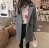 XL: เสื้อโค้ทกันหนาว สีเทา ทรงสวย ใส่ได้หลายแบบ ผ้าดีบุซับในกันลม
