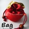 BG01R กระเป๋าผ้าซาติน 2ด้าน