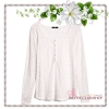 H&M / Top with Burnout Pattern (Size S /#Natural white)
