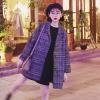 เสื้อโค้ทกันหนาว สไตล์ญี่ปุ่น ลายขาวดำ เรียบง่าย ดูดี พร้อมบุซับในกันลม