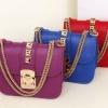 กระเป๋าสะพายข้าง ผู้หญิง แบบมีสายสะพาย สามารถถือ ออกงานได้ กระเป๋าสะพาย แบบหรู ติดหมุด สีทอง ใส่ของกระจุกกระจุก สวย ๆ 940120
