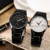 นาฬิกาข้อมือ ผู้ชาย สาย Stainless สีดำ และ สีเงิน หน้าปัด คลาสสิค เกลี้ยง สไตล์ ผู้บริหาร แบบเรียบ แต่ดูมีสไตล์ ใส่ได้ทุกโอกาส ของขวัญให้แฟน สุดหรู 856977