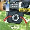 พัดลมระบายอากาศ พลังแสงอาทิตย์ สำหรับติดรถยนต์