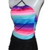 ชุดว่ายน้ำทูพีช แบบกระโปรง ไม่โป้ สีรุ้ง สีสันสดใส no 990420
