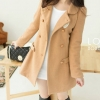 LADY CAMEL WOOLEN COAT | XL