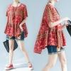 JY25015#เสื้อOversizeสไตล์เกาหลี เสื้อโอเวอร์ไซส์แต่งลายแนวๆ อก*100ซม.ขึ้นไปประมาณ40-42นิ้วขึ้น