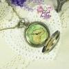นาฬิกาพก,นาฬิกาสร้อยคอสไตล์วินเทจลายแผนที่ฝาหน้าสีชา
