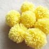 ปอมปอมไหมพรมสีเหลืองอ่อน ขนาด 2 นิ้ว pompoms crochet