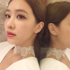 สร้อยคอแฟชั่นสไตล์เกาหลีChokerลูกไม้แหลมสีขาว