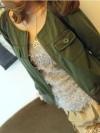 เสื้อคลุม สีเขียว สไตล์เกาหลี เก๋ๆ พร้อมส่ง
