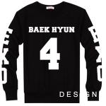 เสื้อแขนยาว BAEKHYUN-4 black sleeves [EXO]