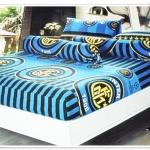 ชุดผ้าปูที่นอนครบชุด ขนาด 3.5 ฟุต 3 ชิ้น ลายทีมฟุตบอล Inter Milan สีน้ำเงิน ผ้าปูที่นอนรัดมุม ทีม Milan ราคาถูก no m004