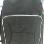 กระเป๋าเดินทาง กระเป๋าเป้ กระเป๋าสะพายหลัง สีดำ ผ้าไนลอน กันน้ำ แบบมีล้อ มีด้ามจับ สำหรับเข็นกระเป๋า bagpack1