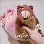 อยากหาของขวัญวันเกิดให้เพื่อนเคส case iPhone 7 Plus แบบน่ารักขนนุ่มรูปหมีคู่รักซื้อของให้แฟน