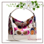 COACH / PARK HAND DRAWN SCARF PRINT HOBO *ของแท้ USA 100%