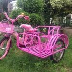 จักรยาน3ล้อ พ่วงข้าง สีชมพู