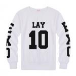 เสื้อแขนยาว LAY-10 black sleeves [EXO]