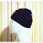 หมวกว่ายน้ำ แฟชั่น สีพื้น สีดำ ลายกราฟฟิก สะท้อนแสงตรงกลาง สวยเก๋ เท่สุด ๆ no sc007