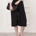 กางเกงขากว้างสีดำ ใส่สบาย gaucho pants ฮิตมากที่ญี่ปุ่น