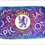 พรมเช็ดเท้า กำมะหยี่ ลายทีมฟุตบอล Chelsea สำหรับตกแต่งบ้าน