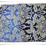 ผ้าคลุมที่นอน ผ้าปูโต๊ะ ผ้าอเนกประสงค์ สีน้ำเงิน ลายไทย 002