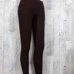 trousers465-สีน้ำตาล กางเกงขายาวทรงสกินนี่ รอบเอว 26-32 นิ้ว กระเป๋าข้างและหลัง ผ้ายีนส์ยืดเนื้อหนายืดได้ตามตัว