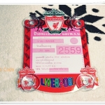 ที่ใส่ พรบ ทะเบียนรถยนต์ ลายทีมฟุตบอล Liverpool สีแดง