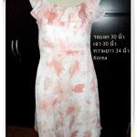 #1127 Used เดรส ผ้าซีฟอง สีชมพูหวาน ๆ ลายดอกไม้ เดรสใส่ออกงาน สีหวาน งานราตรี หรือ ใส่เที่ยวทะเล ราคาถูก