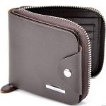 กระเป๋าสตางค์ผู้ชาย ใบสั้น แบบ ซิปรอบ สำหรับ คนชอบแบบซิป กัน เงินหล่น บัตรหล่น กระเป๋าสตางค์สีน้ำตาล ลายไม้ สวยหรู ของขวัญให้แฟน 938998
