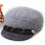 หมวกแฟชั่น ขนสัตว์ สไตล์ สาวยุโรป สีเทา ดีไซน์ หรูหรา ใส่แล้วดูน่ารัก สุด ๆ ค่ะ 55853_2