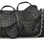 กระเป๋าสะพายข้างสีดำ ลายตัวผีเสื้อ สามารถถอดสายออกเป็น กระเป๋าถือได้ กระเป๋าถือ หนัง Pu สวยเก๋ เท่ไม่ซ้ำใคร no 261153