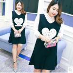 เสื้อสาว+เอี๊ยมคลุมอ้วนพลัสไซต์ XL-3XL