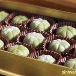 ไดฟุกุ - ขนมโมจิชาเขียว ไส้ถั่วแดง ในรูปการทำแบบขนมไทย ๆ