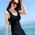 ชุดว่ายน้ำ วันพีช แบบกระโปรง ปกปิดต้นขา สวมใส่สบาย อย่างมั่นใจ สีดำ no 888787_2